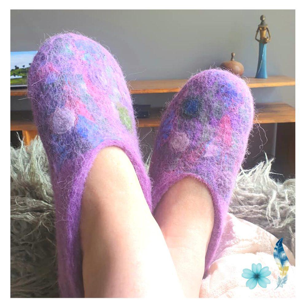 purple-felt-slipper